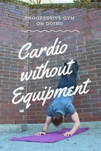 David demonstrates cardio without equipment