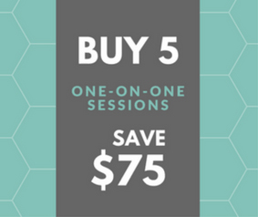 Buy 5 one-on-one sessions, save $75!