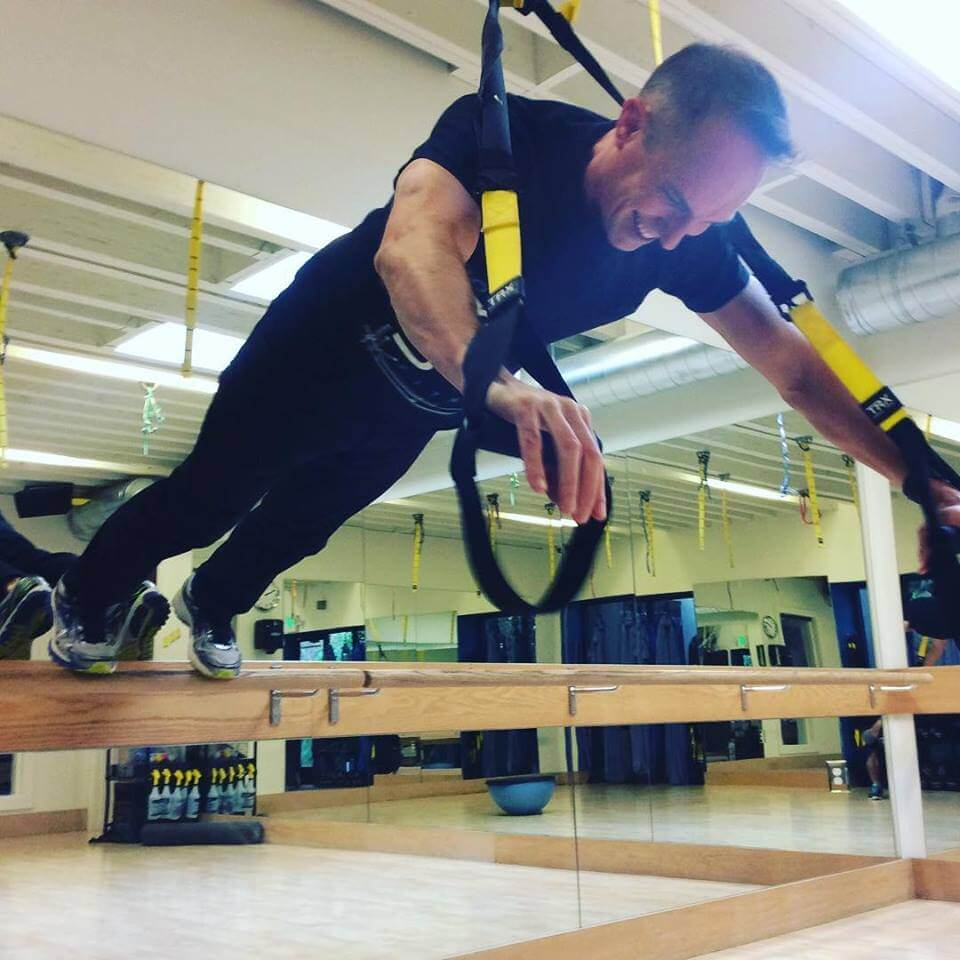David does TRX suspension training