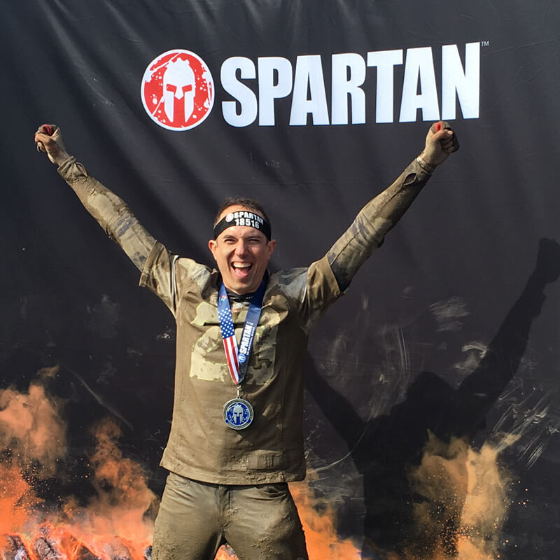 David at the Spartan Race finish line