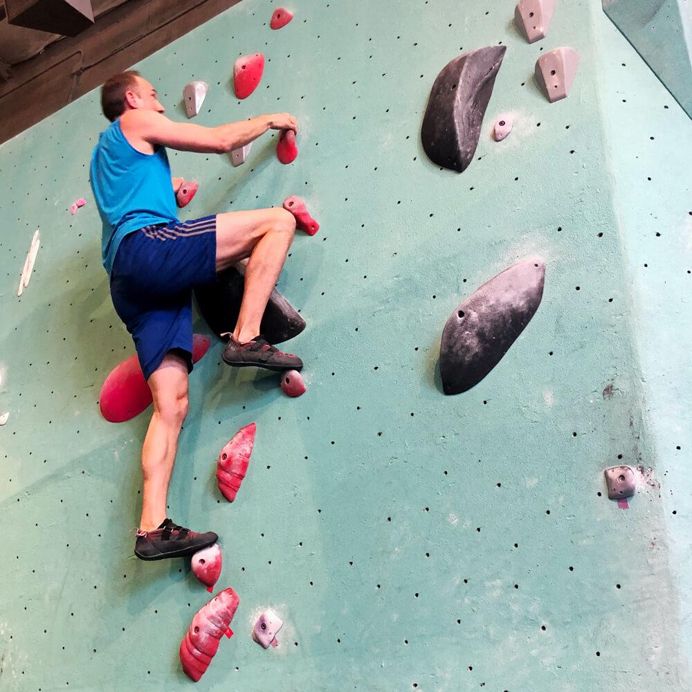 David bouldering
