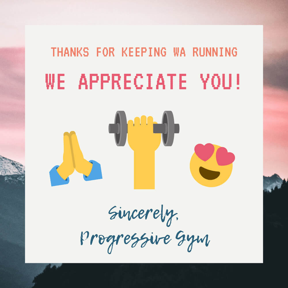 Thanks for keeping WA running! We appreciate you!