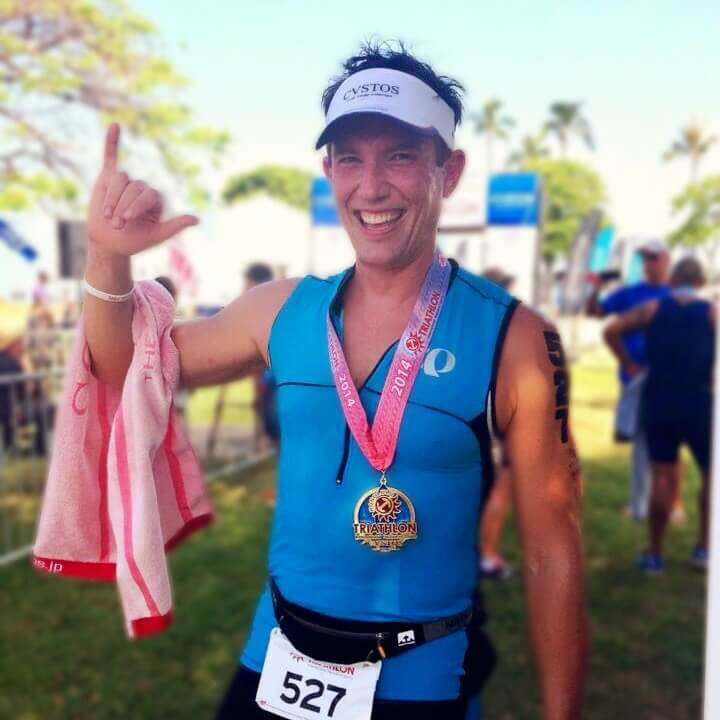 David at the Honolulu Triathlon